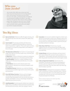 Jane Jacobs: Ten Big Ideas on urbanism and placemaking   Jane's Walk