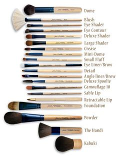 jane iredale brushes - Love these brushes. Going on 7yrs. with my original set. If you take care of them, they last forever. Great applications time after time.:
