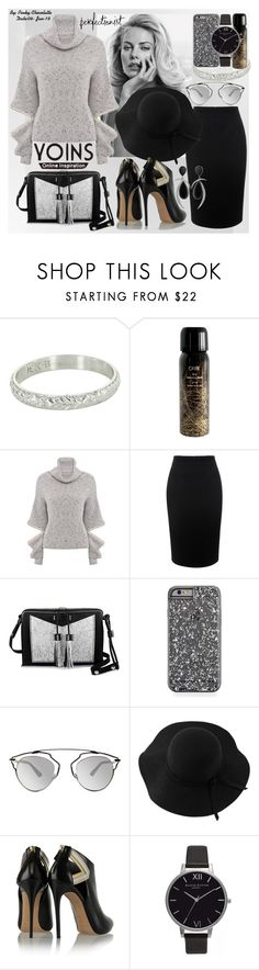 """""""#283 Grey High Neck Jumper by YOINS"""" by pinky-chocolatte ❤ liked on Polyvore featuring Oribe, Alexander McQueen, Carianne Moore, Christian Dior, Sans Souci, Casadei, Olivia Burton and Jorge Adeler"""