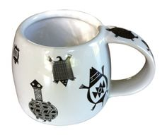 The Mesa Verde Cliff Dweller 12 Oz. Mug channels pottery history with  turtle designs inspired by cliff-dwelling Mesa Verde (Anasazi) and Mimbres designs. Perfect for coffee, tea, and more!