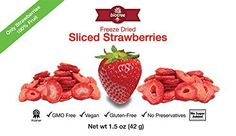 Delicious Strawberry Snack  All Natural Freeze Dried Sliced Strawberries 100 Fruit with No Added Sugar No Preservatives Vegan GMO Free Kosher GlutenFreePaleo Delicious and Healthy Snack for Children and Adults Tastes Great Add to Smoothies Oatmeal Trail mix or Cereal Larger 15oz size >>> More info could be found at the image url.Note:It is affiliate link to Amazon.