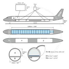 McDonnell Douglas DC-8 71 73F freighter diagram (ACS http://www.aircharterservice.com/)