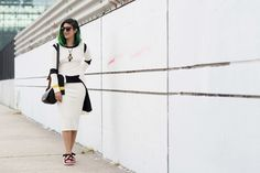NYFW Street Style: Preetma Singh. She swapped out her Birkenstocks for Marc Jacobs Tevas.