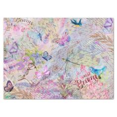 Shop Floral Rose Gold Decoupage Birds Butterfly Script Tissue Paper created by So_Charming_So_Deer. Decoupage Tissue Paper, Custom Tissue Paper, Blank Business Cards, Pink Butterfly, Butterflies, Old Book Pages, Glitter Gifts, Bugs And Insects, Rose Gold Glitter