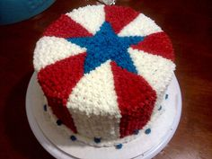 - 4th of July cake.