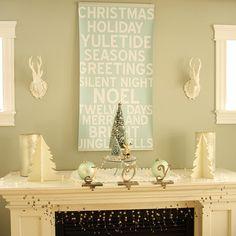 Soft Palette Christmas Mantel