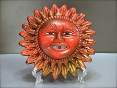 Sole in terracotta aerografati a mano, sun in terracotta airbrushed, Messico
