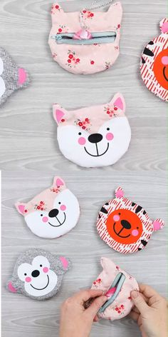 Fun animal shaped zipper pouches to make with your Cricut Maker! Get the cut file and directions as well as a full video tutorial! # cricut sewing projects Zipper Pouch with Your Cricut Cricut Tutorials, Sewing Tutorials, Sewing Patterns, Rug Hooking Patterns, Bag Tutorials, Sewing Hacks, Sewing Crafts, Sewing Tips, Small Zipper Pouch