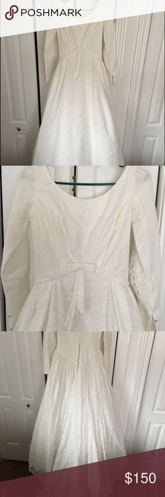 Beautiful 1950's-60's wedding dress 1950's-60's ivory lace wedding dress. Great condition! I believe it was handmade. Great quality. I would say it fits like an 8. Dresses Wedding