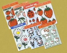 Rune Naitō designed stickers. ☆内藤ルネ デザイン シール。