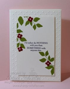 Thursday Time Out – Sweet Nothing love making white on white - quick, easy and elegant