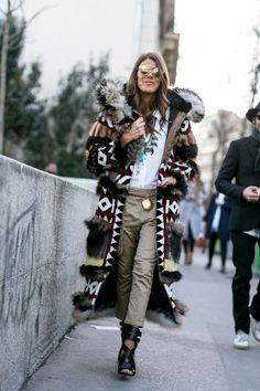 Anna Dello Russo wearing DSquared2