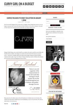 Curvy Girl On a Budget featured the release of Curvezz Collection in her blog. @Violet Moya