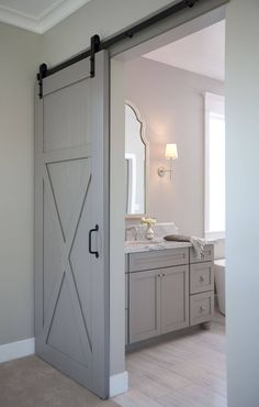30 Exciting Apartment Bathroom Renovation Before and After Best Ideas - Page 2 of 21 Bathroom Doors, Bathroom Renos, Bathroom Renovations, Bathroom Vanities, Master Bathroom, Paint Bathroom, Bathroom Lighting, Small Bathroom, Master Closet