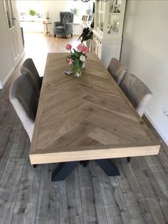 Diy Dining Room Table, Dining Room Design, Diy Table, Farmhouse Kitchen Tables, Furniture Plans, Home Living Room, Diy Home Decor, Sweet Home, Wood