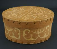 Etched birch bark basket by David Moses Bridges at Home & Away Gallery