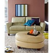 Almafi Leather Sofa Living Room Furniture Collection   Sofa And Chair In  ORANGE!