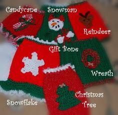 Christmas Dog Sweater With Applique Custom made
