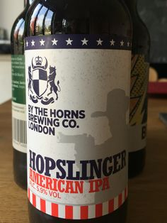 By The Horns Hopslinger - Citrusy, malty and massive hoppiness British Beer, Beer Label, Brewing Co, Ipa, Craft Beer, Four Square, Horns, Couple, Antlers
