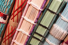 .: Papeliê Brasil | Jê Brasil :: love the colorful bindings on these handmade books