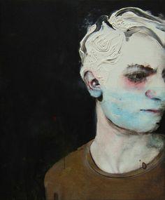 "Antoine Cordet; Acrylic 2014 Painting ""GRAY NIGHT IS RARE"""
