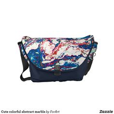 Cute colorful abstract marble Small Messenger bag