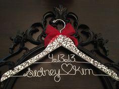 Damask Bride Hanger. Too. Cute!!
