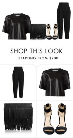 """""""#clubnight Happy New Year!!!"""" by monique-d ❤ liked on Polyvore featuring HUGO, By Malene Birger, Yves Saint Laurent and Rihanna For River Island"""