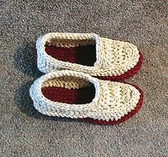 Ravelry: Crocheted Moccasin Slippers pattern by Sue Norrad