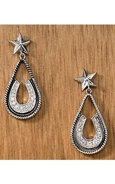 Montana Silversmiths® Vintage Charm Pony Trekker Earrings | Cavender's Boot City