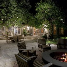 Beautiful outdoor space (use my Pottery Barn chairs, add some cushions, to use around fire pit.)