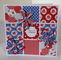 Card designed by Julie Hickey using Craftwork Cards Paper Artistry kit. Kitsch double sided papers, Kitsch die cuts and double sided Candi. Cards For Friends, Friend Cards, Craftwork Cards, All Paper, Card Making Inspiration, Card Tags, Craft Work, Craft Items, Vintage Cards