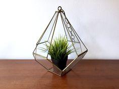 Glass Hanging Terrarium / Large Hanging Glass by ShopRachaels
