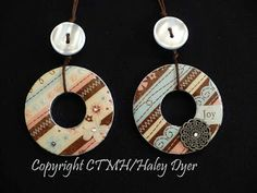 The Inky Scrapper: Washer Pendant Tutorial:  washer, mod podge, pretty paper, liquid glass