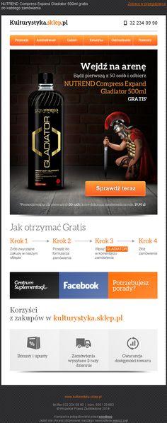 Projekt newslettera przygotowany dla kulturystyka.sklep.pl - https://panel.sendingo.pl/kampania/67a / #newsletter #email #template #marketing #theme