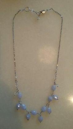 Colar prata Ágata azul