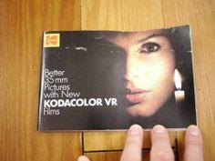 Vintage 1983 KODAK Kodacolor VR 35mm Color Film Advert Booklet Guide Pamphlet