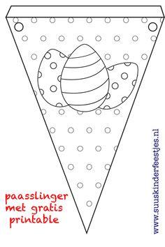 Knutselen pasen: maak een paasslinger met deze gratis printables - Suus Kinderfeestjes