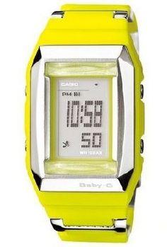 Casio Baby-G 34 Yellow Resin Watch BG2200C-9