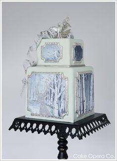 Elegant Winter Wedding Cake by Cake Opera. cake of Christmas, 2011 Gorgeous Cakes, Pretty Cakes, Amazing Cakes, Take The Cake, Love Cake, Enchanted Forest Cake, Super Torte, Holiday Cakes, Christmas Cakes
