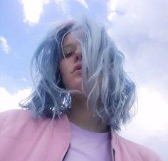 Powder blue hair