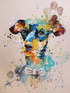 Vibrant Watercolor Animal Paintings by Tilen Ti