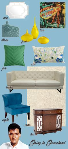 Graceland living room style