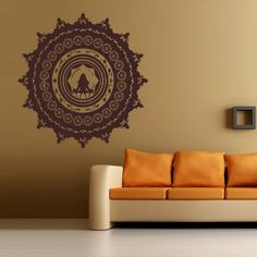 Wall Decal Art Decor Decals Sticker Mehendi Flower Tattoo Buddhism - Wall decals india