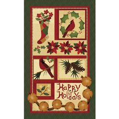 Can you imagine this quilted Christmas panel hanging on your front door to see on your way to Christmas shopping?