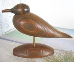 Hand Carved Wood Duck, Cypress Wood Carved Duck at ReneesRetro.etsy.com. THIS ITEM SOLD