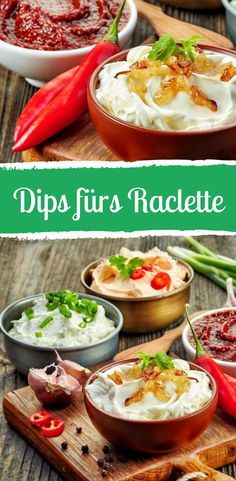 The right dips are part of the perfect raclette evening! Informations About Diese Dips machen Ihr Raclette perfekt! Raclette Recipes, Grilling Recipes, Snack Recipes, Raclette Party, Raclette Dip, Dips, Simple Muffin Recipe, Healthy Snacks, Healthy Recipes