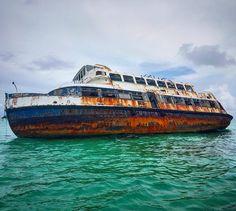 Princesa Maya - un barco hundido cerca Isla Pasion #Cozumel