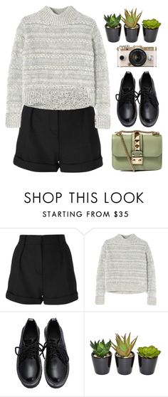 """""""Green star"""" by edita-m ❤ liked on Polyvore featuring moda, IRO, Rebecca Taylor, Urban Outfitters, Valentino, women's clothing, women, female, woman y misses"""