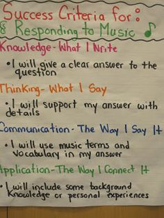 Music in the City >>> Responding to MUSIC.LOVE this for the new Common Core requirements in the music classroom! Singing Lessons, Music Lessons, Singing Tips, Piano Lessons, Teaching Music, Listening To Music, Kindergarten Learning, Music Rubric, Music Anchor Charts